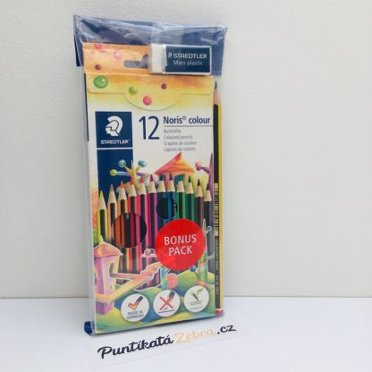 Pastelky Noris Club 12 barev Staedtler Puntikata Zebra