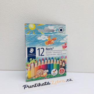 Pastelky Noris Club 12 barev polovicni delka Staedtler Puntikata Zebra.jpg
