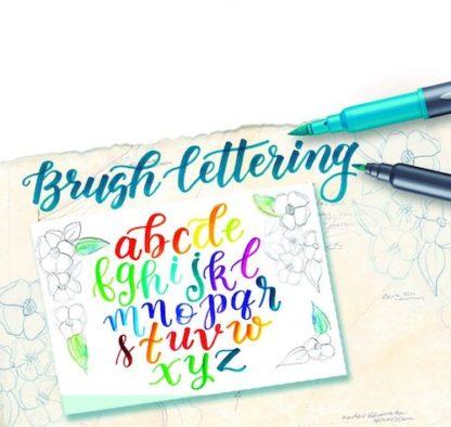 Staedtler Brush letter ukazka