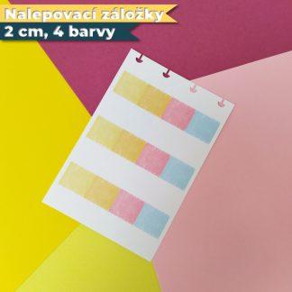Nalepovaci zalozky 2 cm 4 barvy hlavni produkt