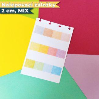 Nalepovaci zalozky 2 cm mix
